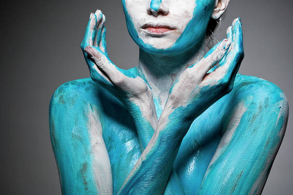 Beautiful People Photograph - Close-up Of Body Painted Woman by Tomfullum