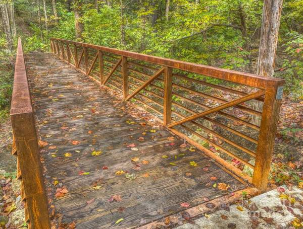 Photograph - Close Up Of Bridge At Pine Quarry Park by Jeremy Lankford
