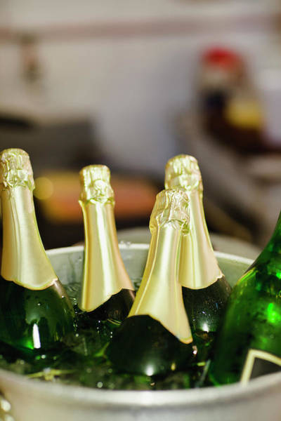 Celebration Photograph - Close Up Of Bucket Of Champagne by Hybrid Images