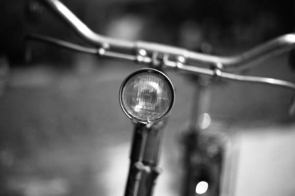 Handle Photograph - Close Up Of Bycicle Handle by Tommasotuzj