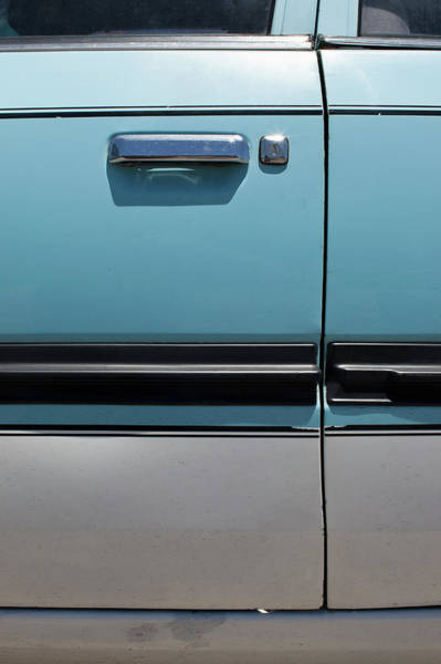 Handle Photograph - Close Up Of Car Door by Benne Ochs
