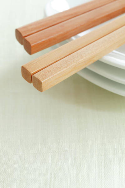 Japan Photograph - Close-up Of Chopsticks On Plate by Imagewerks