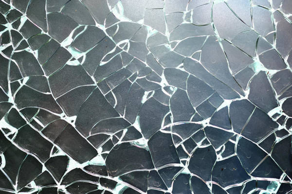 Damaged Photograph - Close-up Of Cracked Glass Window by Joelle Sedlmeyer