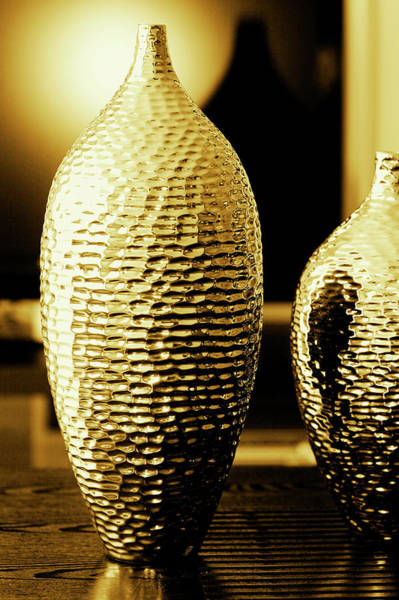 Home Interior Photograph - Close-up Of Decorative Urns by Glow Decor