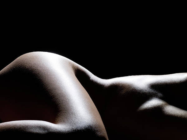 Dark Skin Photograph - Close Up Of Females Hip by Michael H