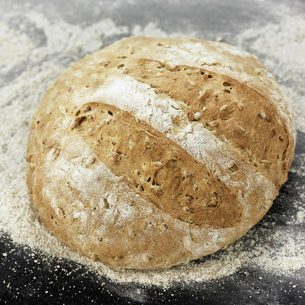 Wall Art - Photograph - Close Up Of Fresh Baked Loaf Of Bread by Lisbeth Hjort
