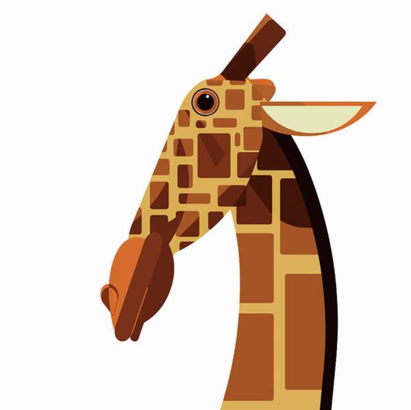 Wall Art - Photograph - Close Up Of Giraffe Looking At Camera by Ikon Images