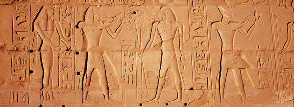 Wall Art - Photograph - Close-up Of Hieroglyphics, Luxor, Egypt by Panoramic Images