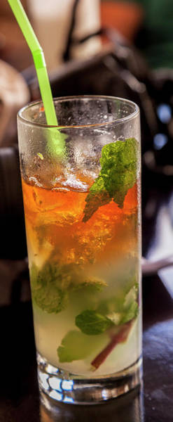 Wall Art - Photograph - Close-up Of Mojito Rum Drink by Panoramic Images