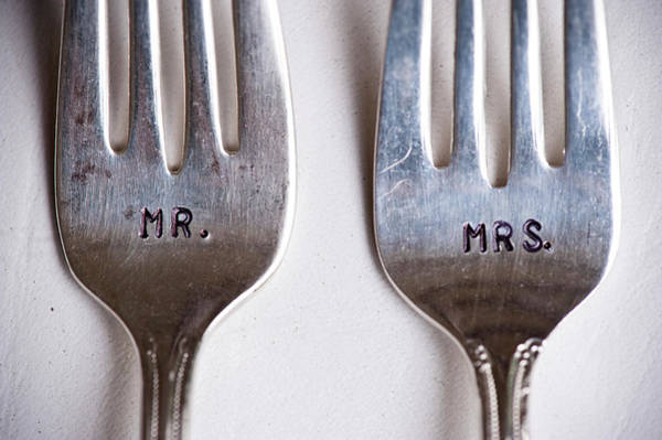 Engraving Photograph - Close-up Of Mr. And Mrs. Forks At by Ikonica