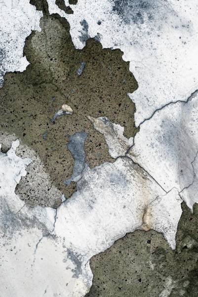 Plaster Photograph - Close-up Of Plaster Peeling Of A Wall by Glow Images