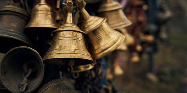 Wall Art - Photograph - Close-up Of Prayer Bells by Panoramic Images