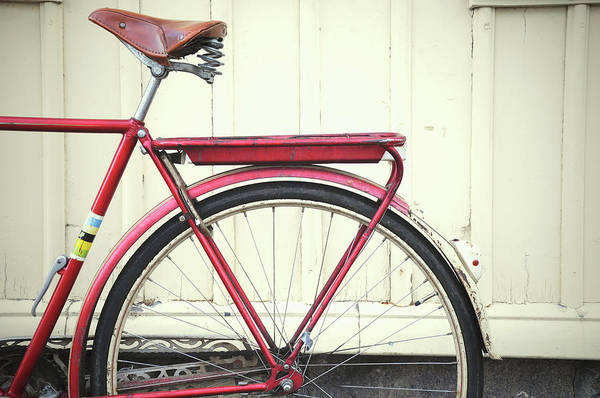 Object Photograph - Close-up Of Red Bicycle by Carina Tjarnlund