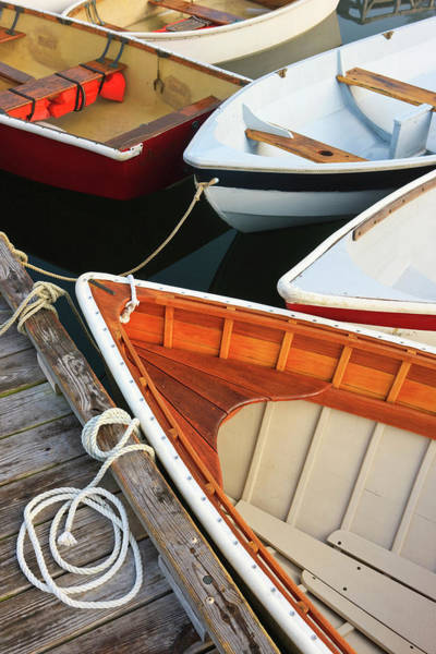 Rowboat Photograph - Close-up Of Skiffs In Southwest Harbor by Danita Delimont