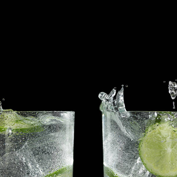 Cocktail Photograph - Close-up Of Splashed Cocktails by Monica Rodriguez