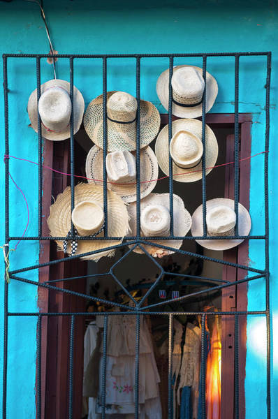 Greater Antilles Photograph - Close-up Of Straw Hats Displayed In by Alberto Biscaro