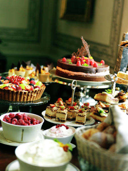 Break Up Photograph - Close Up Of Table With Desserts And by Johner Images