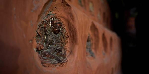Wall Art - Photograph - Close-up Of Traditional Tsa-tsa Idols by Panoramic Images