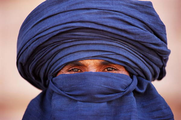 Indigenous People Photograph - Close-up Of Tuareg, Sahara, Algeria by Frans Lemmens
