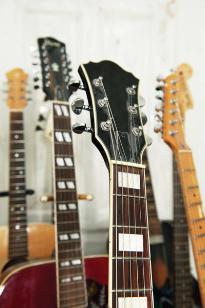 Skane Photograph - Close Up Of Various Guitars by Johner Images