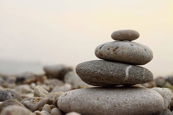 Peace And Harmony Wall Art - Photograph - Close-up Picture Of Zen Stones by Oonal