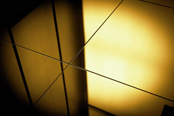 Shadow Photograph - Close-up Spot Lit Reflection In Yellow by Ralf Hiemisch