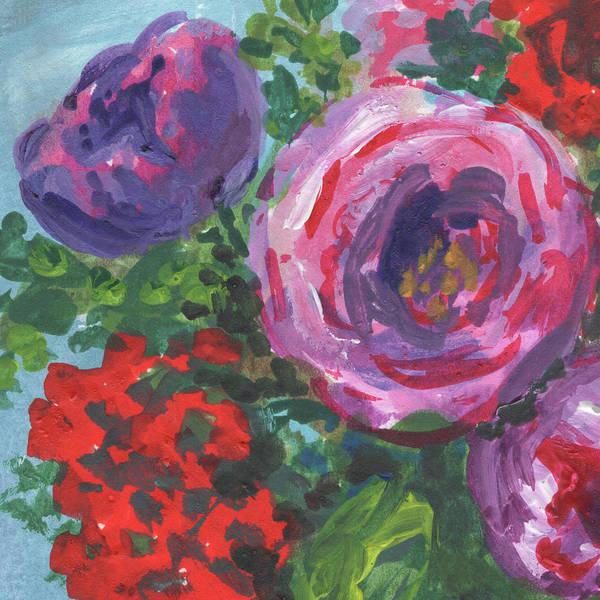 Wall Art - Painting - Close Up To Pink Flowers Impressionism  by Irina Sztukowski