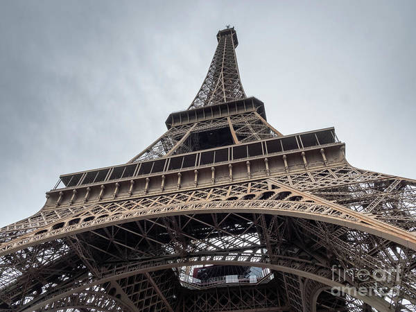 Photograph - Close Up View Of The Eiffel Tower From Underneath  by PorqueNo Studios