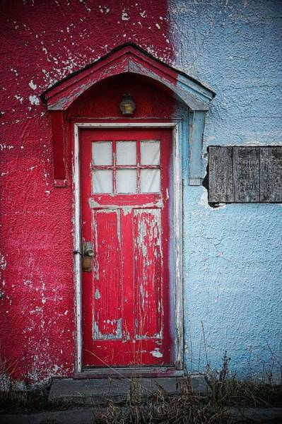 Strange People Wall Art - Photograph - Closed Door Of House by Stan Strange / Eyeem