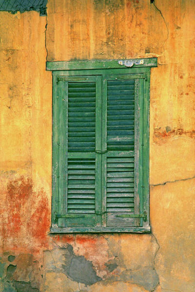 Plaster Photograph - Closed Window Shutters On Wall by Harald Sund