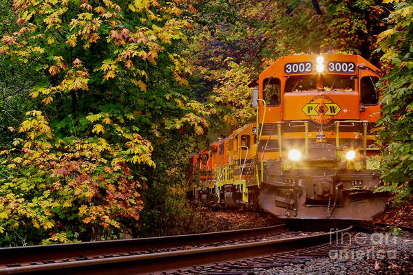 Wall Art - Photograph - Closest Train On The Tracks by American School
