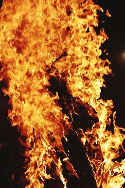 Flammable Wall Art - Photograph - Closeup Of Fire At Time Of Festival by Ravindra Kumar