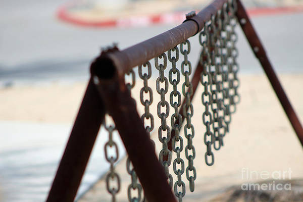 Photograph - Closeup Of Rusted Bike Rack At Salton Sea by Colleen Cornelius
