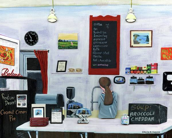 Wall Art - Relief - Cafe Evening -closing Time by Kevin Cameron