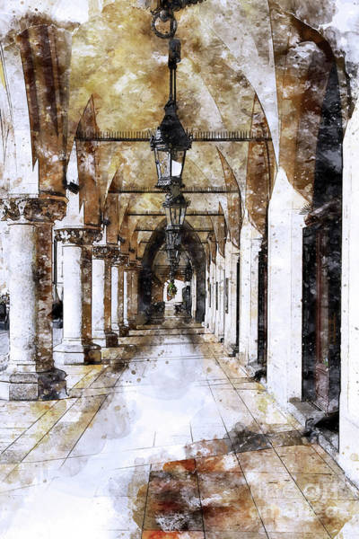 Painting - Cloth Hall Arcade In Cracow Poland by Teresa Zieba