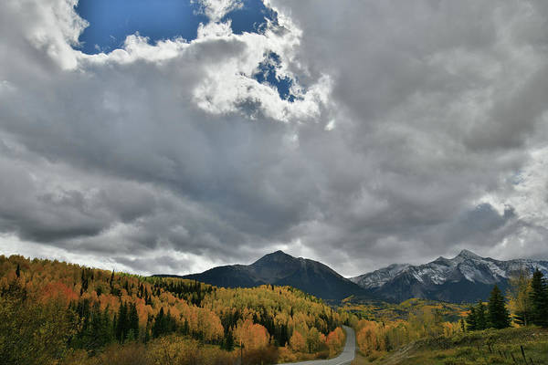 Photograph - Cloud Break Over Highway 145 Fall Colors by Ray Mathis