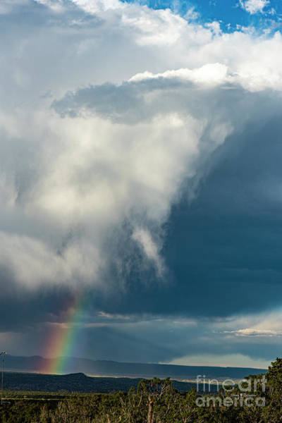 Wall Art - Photograph - Cloud Burst With Rainbow by Steven Natanson