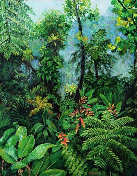 Wall Art - Painting - Cloud Forest I by Rose Wark