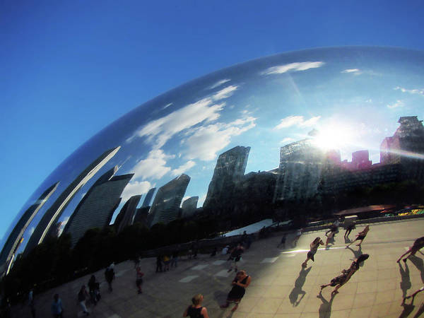 Photograph - Cloud Gate Bean Chicago by Marilyn Hunt