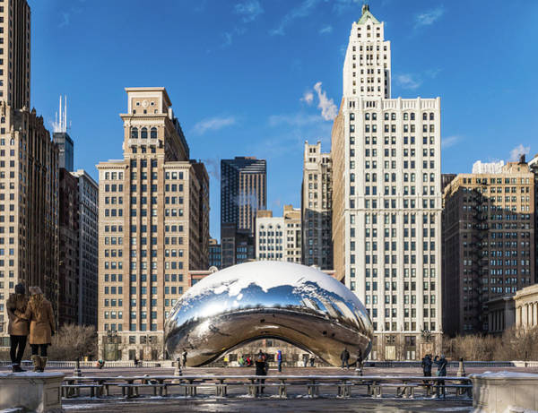 Photograph - Cloud Gate Embrace by Framing Places