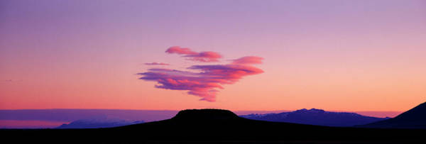 Wall Art - Photograph - Cloud Over Glacier, Sunset by Arctic-images