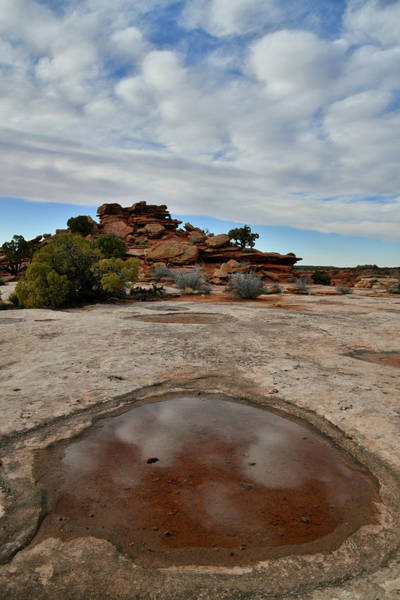 Photograph - Cloud Reflections At Orange Cliffs Overlook by Ray Mathis