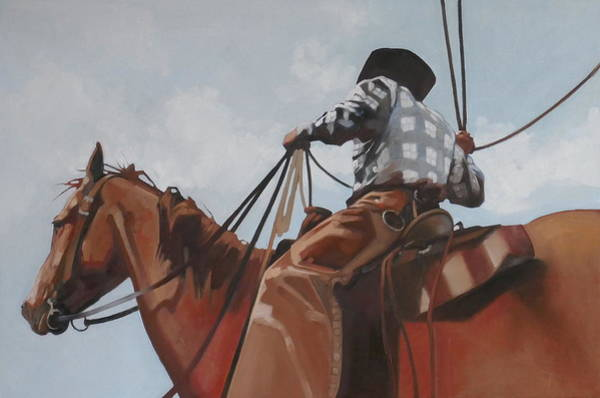 Roping Painting - Cloud Roper by Peggy Judy