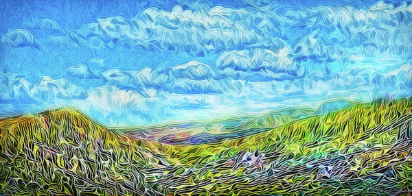 Digital Art - Cloud-swept Rocky Mountains by Joel Bruce Wallach