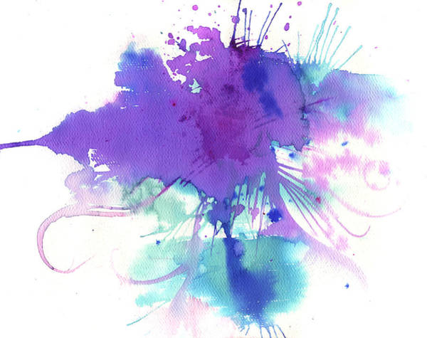 Pouring Digital Art - Cloudburst by Stereohype