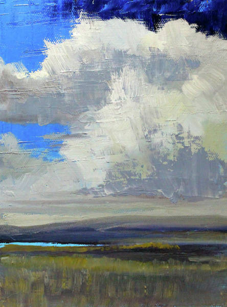 Wall Art - Painting - Clouds Above The Sound by Nancy Merkle