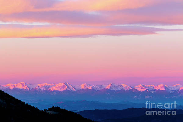 Photograph - Clouds And Alpenglow On The Sangre De Cristo by Steve Krull