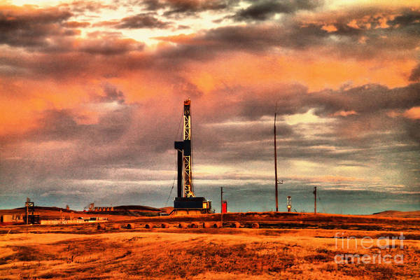 Wall Art - Photograph - Clouds And An Oil Rig by Jeff Swan
