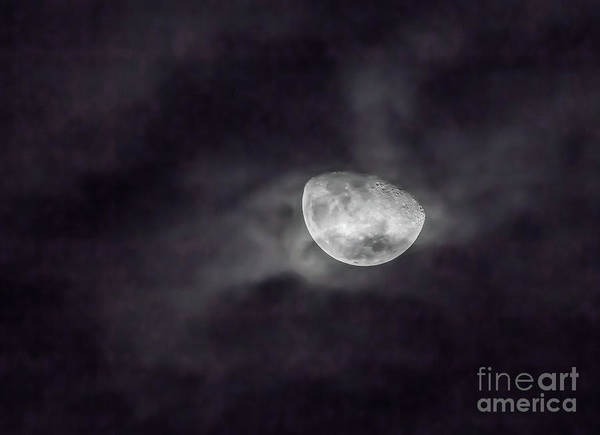 Photograph - Clouds And Crescent Moon by Kevin McCarthy