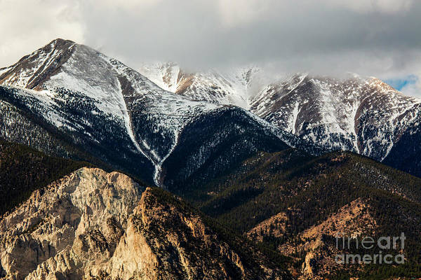 Photograph - Clouds And Fog On The Sangre De Cristo by Steve Krull